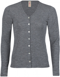 Damen-Cardigan (Wolle) - schiefer