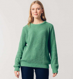 "Knit Jumper ""Iradi"" - emerald green"