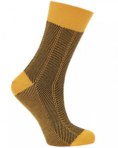 Herringbone Socks - gold