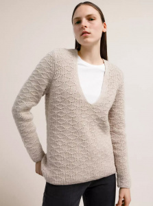 "Strickpullover ""Josefinaa Diamond"" - light caramel melange"
