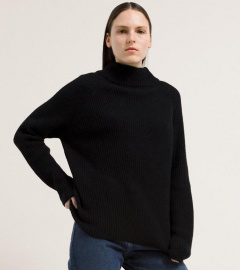"Strickpullover ""Millaa"" - black/night sky"