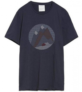 "T-Shirt ""Jaames Graphic Mountain"" - depth navy"