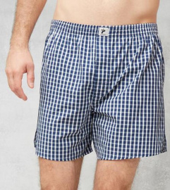 "Boxershorts ""Checked"" - dark blue/white"