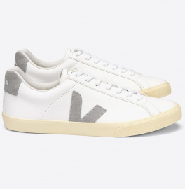 "Veja ""Esplar Leather"" - white oxford grey"