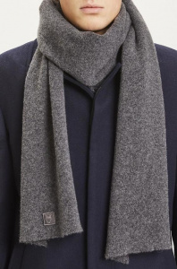 Woolen Scarf - dark grey