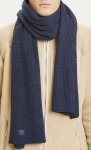 Ribbed Scarf - total eclipse