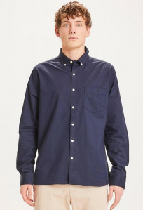 Stretched Oxford Shirt - dunkelblau