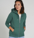 "Frauen Zipper ""Basic"" - eukalyptus"