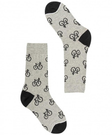 "Socken ""Cholla Bikes"" - grey/black"