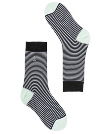 "Socks ""Ocotillo"" - navy/white/mint"