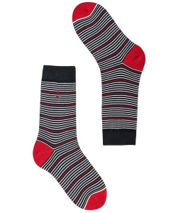 "Socks ""Ocotillo"" - navy/red/white"