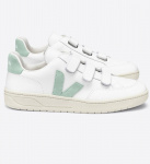 "Veja ""V-Lock Leather"" - extra white matcha"