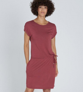 """EcoVero Shirtdress"" - dark rose"