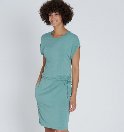 """EcoVero Shirtdress"" - light eukalyptus"