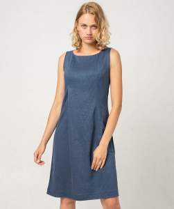 Hemp Dress - blue