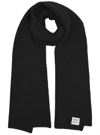 "Wool Knit Scarf ""Stanley"" - black"