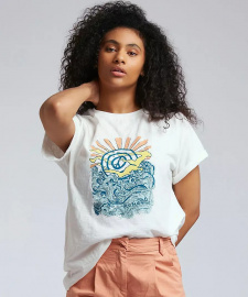 "Tee ""Peace Wave"" - weiß"