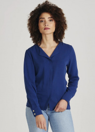 "Givn Tencel Blouse ""Zoe"" - navy blue"