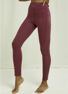 Yoga Pocket Leggings - burgundy