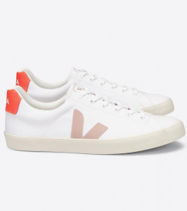 "Veja ""Esplar SE Canvas"" (vegan) - white babe orange fluo"