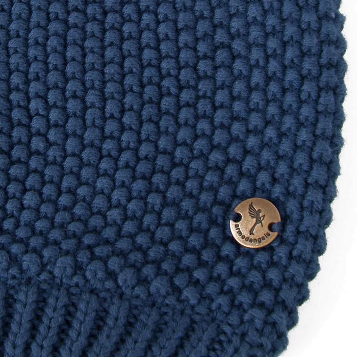 URSFUR Neue Warme Baumwoll Strickmütze Kappen Katze Ohren Beanies mit Fellbommel aus Fuchspelz /Waschbär Fell B01LZ8X50L € € Sie sparen 52%!