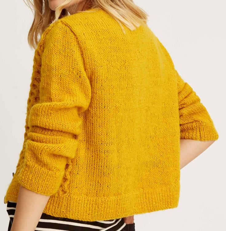 auf großhandel erstklassiger Profi Los Angeles People Tree · Cardigan Honeycomb (Wolle) - gelb · fairtragen