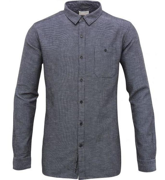 Knowledge Cotton Slub Yarn Shirt Peacoat Fairtragen