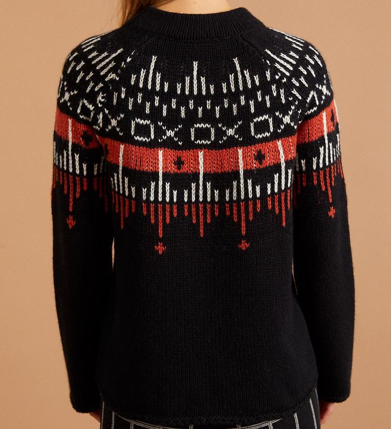 Lanius · Lanius Norweger Pullover (Wolle) schwarz · fairtragen